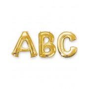 Balão alumínio letra dourada 86 cm