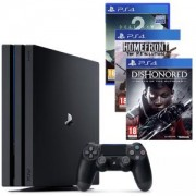 Конзола Playstation 4 PRO, 4K, 1ТВ, Sony PS4 Pro+Игра Destiny 2+Игра Homefront: The Revolution+Игра Dishonored: Death of the Outsider