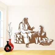 Wall Sticker Jesus with Child Design (Cover Area :- 30 X 23 inch)