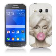 Husa Samsung Galaxy Ace 4 G357 Silicon Gel Tpu Model Marilyn Monroe Bubble Gum