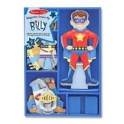 Melissa & Doug - 13550 - Poupée Et Mini Poupée - Billy Magnetic - Wooden Dress Up Doll