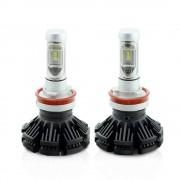 H11 LED pt faruri 12-24V - 4000 Lumeni Super White