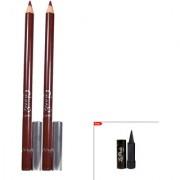 Glam21 Glimmersticks Mulberry Eye Liner For Eyes Lips Set of 2 With Kajal-L19