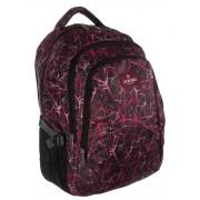 3 rekeszes lila mintás textil hátizsák Aoking