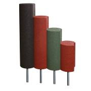 Černá gumová palisáda - průměr 25 cm a výška 100 cm