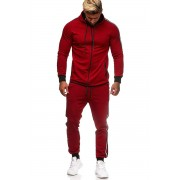 OneRedox Jogging Suit Sport Set Tracksuit Pants & Hoodie Sweater Red 1188C 52007-2
