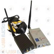 Kit Trasmettitori Wireless Trasmettitore e Ricevitore Senza Fili 1.2Ghz 2.0W 12Ch