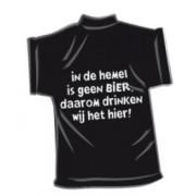 T-Shirtje-In de hemel is geen bier