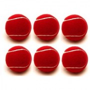 Tahiro Red Colour Cricket Ball - Pack Of 6