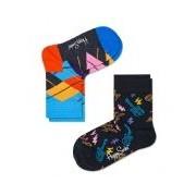 Happy Socks-Sokken-2-pack Socks Guitar-Blauw