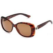 Polaroid Sunglasses Women's PLD 4051/s Polarized Cateye, Dark Havana, 55 mm