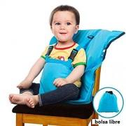 C'estBella Portátil de Fácil Asiento para Bebés Silla Portátil de Viaje Silla Alta Ajustable Desmontable Arnés de Seguridad Infantil Fundas para Tronas Bolsa para Silla de Comedor para Bebé Arnés de Asiento de Seguridad para la Alimentación del Bebé Corre