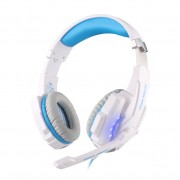 KOTION EACH G9000 7.1 Surround Sound USB Game Headphone (CE/RoHS/FCC) - White / Blue