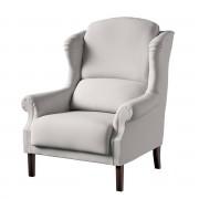 Dekoria Fotel Unique, jasny popiel, 85 × 107 cm, Etna