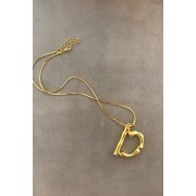 """BAMBOO - LETTERS NECKLACE """"D"""""""