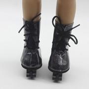 ELECTROPRIME Dolls Skates Shoes for 18'' American Girl Doll Lace Up Bling Bling Skating