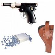 Prijam Air Gun Hunter 007 Metal Body 300 Pellets Cover Air Gun Combo Offer