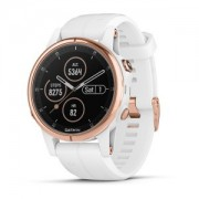 Watch, Garmin fenix® 5S Plus, Sapphire, Rose gold с бяла каишка (010-01987-07)