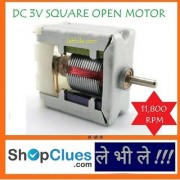 E100 DC 3V Square See Through Open Micro Motor Children Educational Project DIY