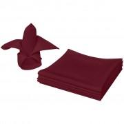 Sonata Салфетки от плат, 10 бр, бордо, 50 х 50 см