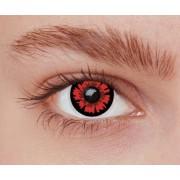Vegaoo Kontaktlinser fantasi röda och svarta vuxen One-size