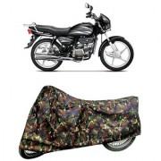 De AutoCare Premium Quality Army/ Junglee Matty Two Wheeler Bike Body Cover for Hero Splendor Plus