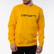 Carhartt WIP Sweatshirt I027092 SUNFLOWER/BLACK