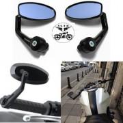 Handle Bar Edge OVEL Grip Mirror for Bike Bullet Standard TVS Ntorq Yamaha NMax Suzuki Gixxer GXS Burgman scooty-02