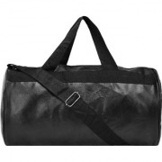 Bum Bat Collection Black Colour Gym Bag Body Building Pu Leather Duffle Gym Bag Sports Bag for Men and Women for Fitness