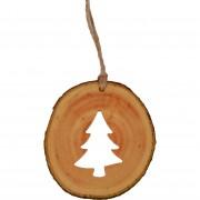 Decoratiune de craciun - Bradut din felie de lemn New Way Decor