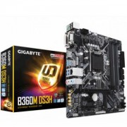 Дънна платка GIGABYTE B360M-DS3H, Socket 1151 (300 Series), 4 x DDR4, GA-MB-B360M-DS3H