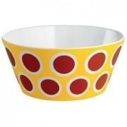 Bol alessi Circ portelan puncte rosii galben de 16cm diametru (8,003,299,404,995)