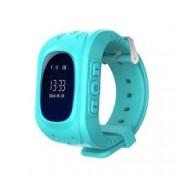 Ceas Smartwatch Pentru Copii Wonlex Q50 cu Functie Telefon Localizare GPS Pedometru SOS - Turcoaz Bonus Cartela Prepaid Vodafone 10