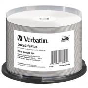 Média CD-R Verbatim spindle 50, 700MB, 52x, white wide printable