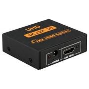 4K x 2K UltraHD (uHD) 1x2 HDMI Splitter (2 Output Ports), 3D, HDMI v1.4 - Up to 3840 x 2160 Resolution