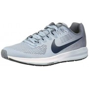 Nike Air Zoom Structure 21 (Wide)_904704-400 Tenis para Correr para Mujer, Armory Blue/Armory Navy/Cirrus Blue, 8.5