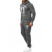 OneRedox Jogging Suit Sport Set Tracksuit Pants & Hoodie Sweater Anthracite/Silver 979AC 59004-1