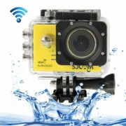 (#33) SJCAM SJ5000 Full HD 1080P 2.0 inch LCD Screen WiFi Sports Camcorder Camera with Waterproof Case, 14.0 Mega CMOS Sensor, 30m Waterproof(Yellow) - Caméra sport