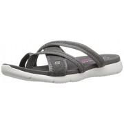 Skechers Cali Women's Microburst 39062 Flip Flop, Charcoal, 6 M US