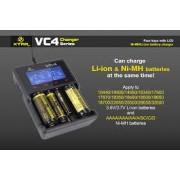 XTAR-VC4 - Универсално зарядно у-во за Li-Yon и Ni-Cd/Ni-MH батерии