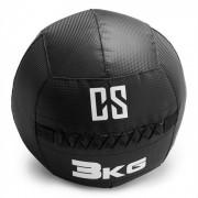 Bravor Wall Ball Bola Medicinal PVC Costuras Duplas 3 kg Preto