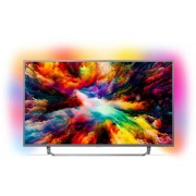 "Televizor LED Philips 109 cm (43"") 43PUS7303/12, Ultra HD 4K, Smart TV, Android TV, Ambilight, WiFi, CI+ + Cartela SIM Orange PrePay, 6 euro credit, 6 GB internet 4G, 2,000 minute nationale si internationale fix sau SMS nationale din care 300 minute/SMS i"