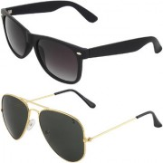 Zyaden Combo of Wayfarer Sunglasses Aviator Sunglasses (Combo-1)