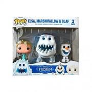 Funko Disney Frozen POP! Movies Elsa Marshmallow & Olaf Vinyl Figures #82