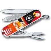 Victorinox 0.6223.L1407B Classic Treasure 7 Function Multi Utility Swiss Knife(Multicolor)