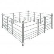 vidaXL 4 painéis de cerca aço galvanizado para ovelhas 183 x 92 cm