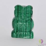 Bufnita malachit figurina gravata 50mm