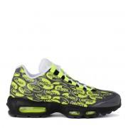Nike Sneaker Nike Air Max 95 Premium in pelle grigia con stampa fluo