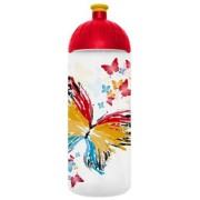 Kulacs, higiénikus műanyagból, 0,7L, FREEWATER Pillangó, átlátszó (FW0705021)