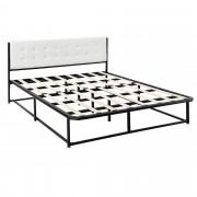 [en.casa]® Kovová manželská posteľ AANB-0701 - s roštom - 140 x 200 cm